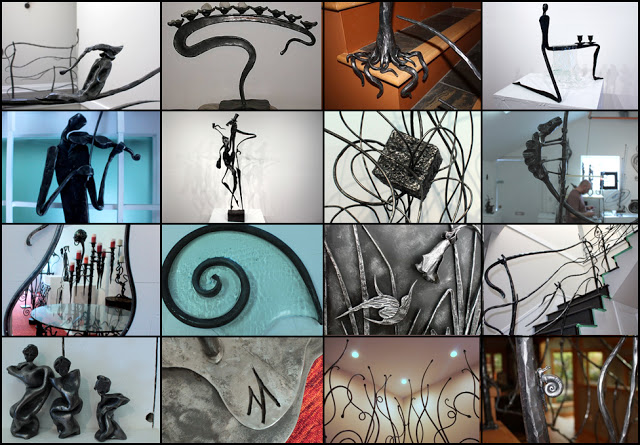 wrought iron collage