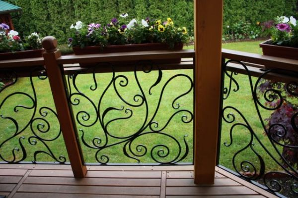 Wrought Iron Deck Railing Br205 Miran S Wrought Iron Art