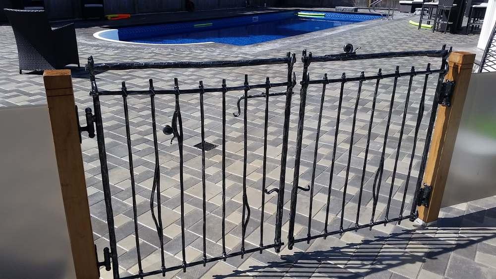 wrought iron pool gates bg128