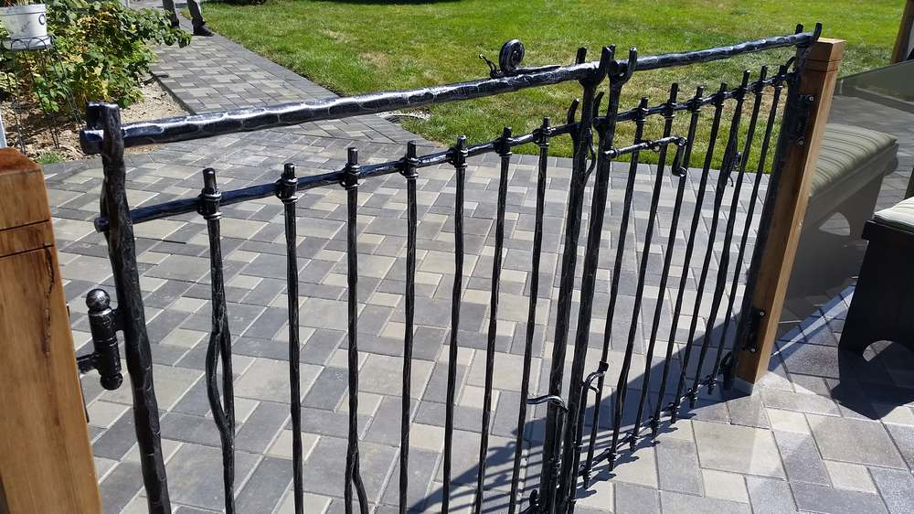 wrought iron pool gates bg128