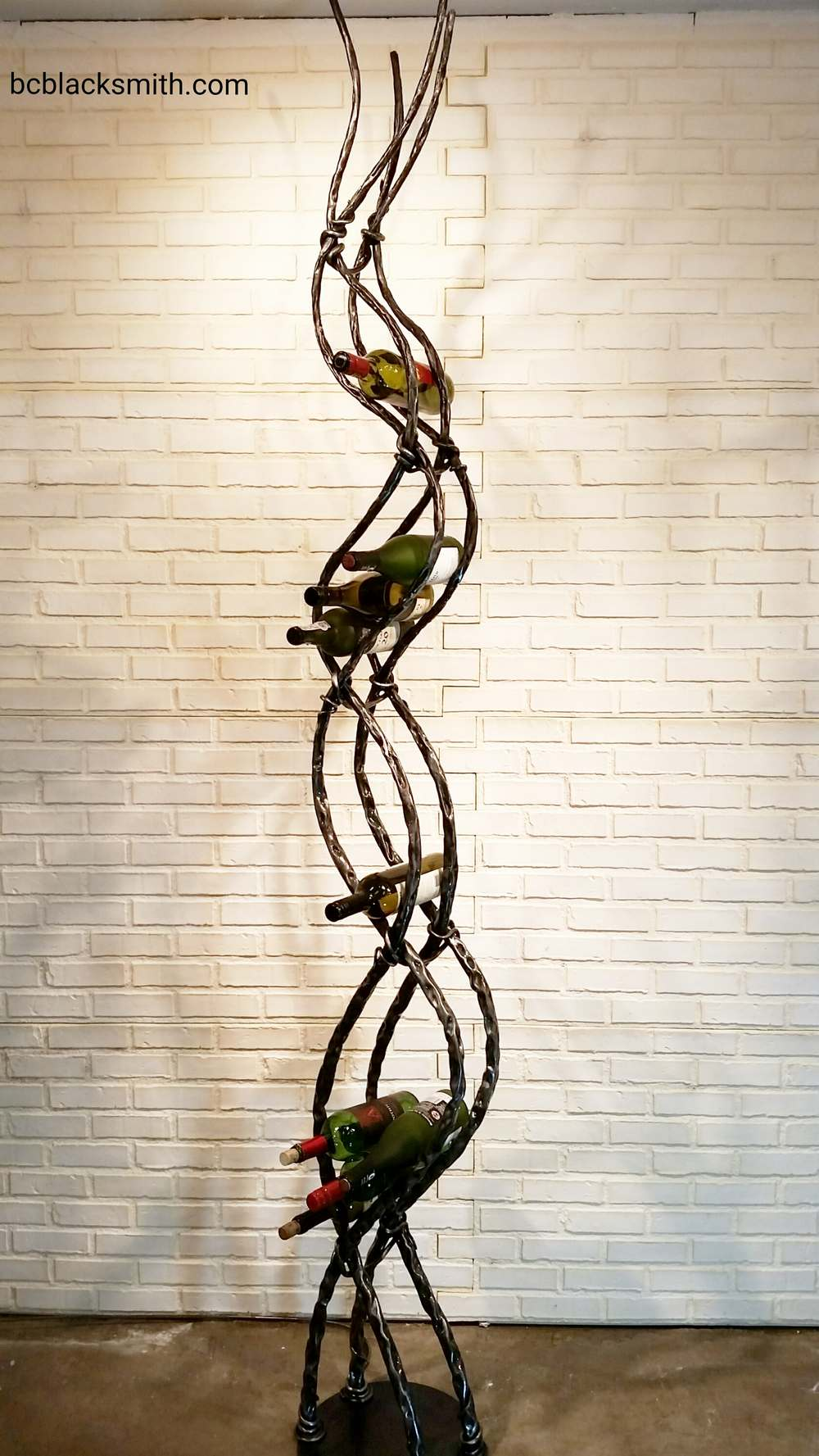 Wrought Iron Wine Rack BW7