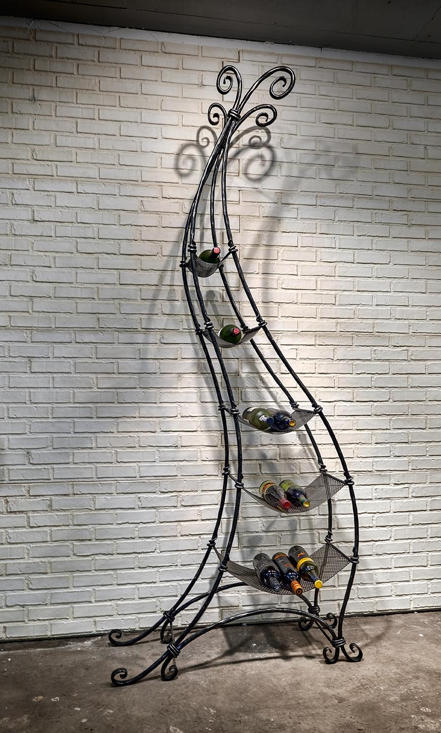 Tall Wrought Iron Wine Rack
