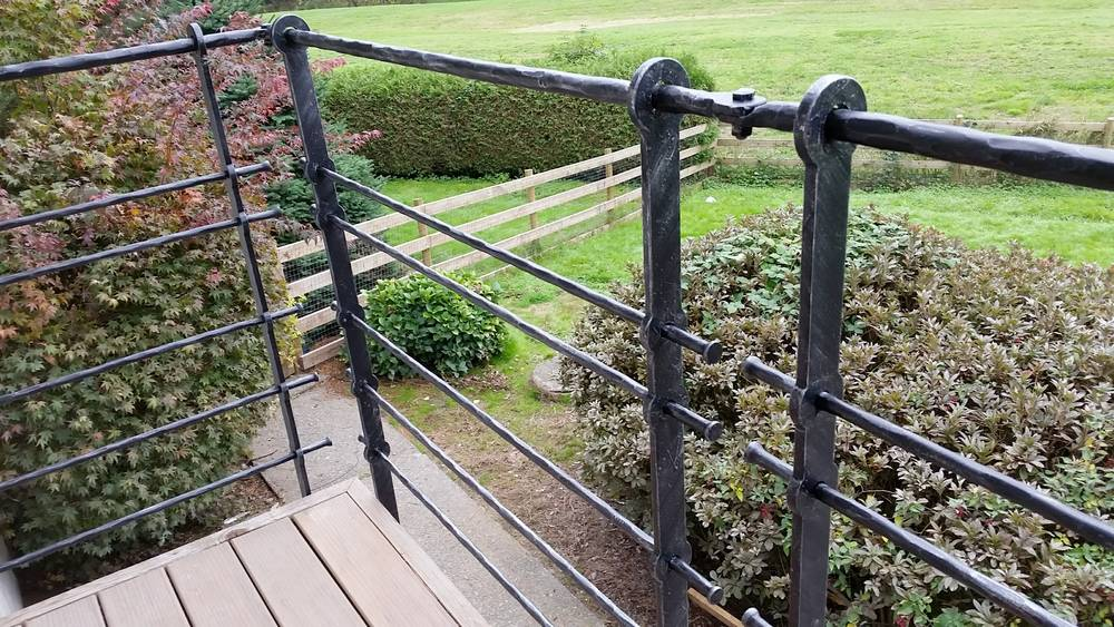 forged industrial style balcony railing