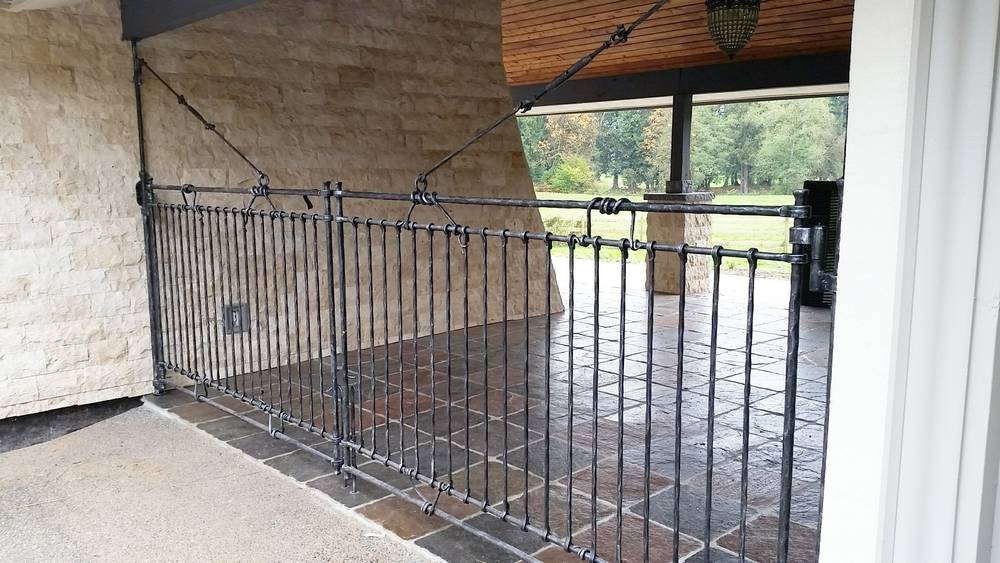 wrought iron garage swing gates