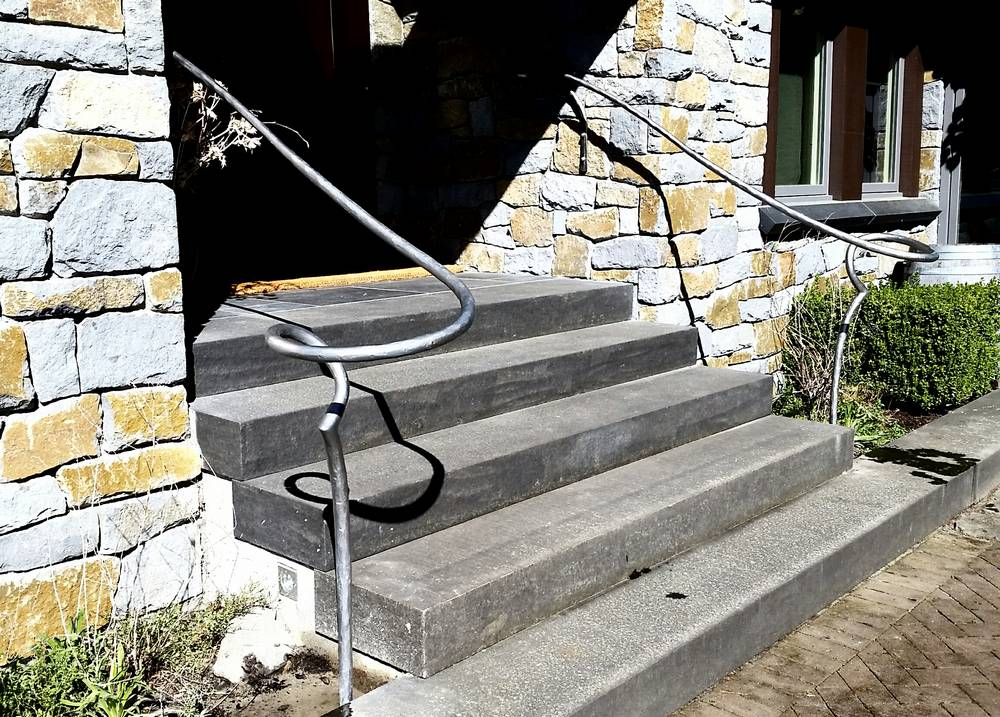 Iron Porch Railing installed in Surrey