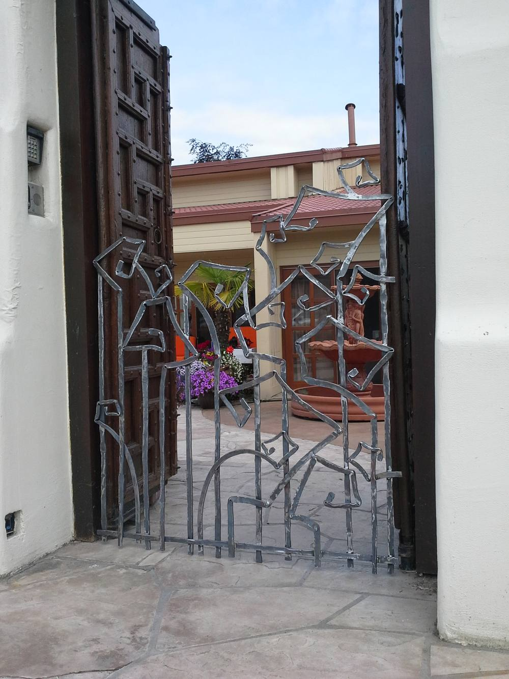 wrought iron contemporary gates in White Rock